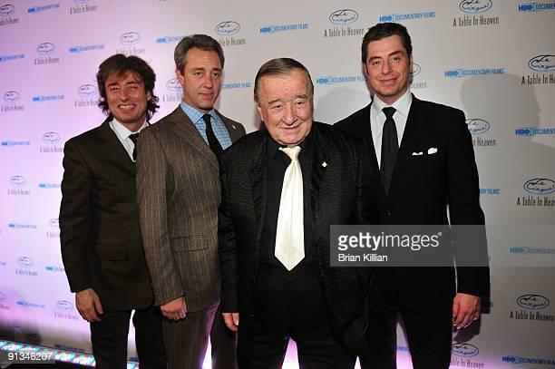 Marco Maccioni Mario Maccioni Sirio Maccioni and Mauro Maccioni attend HBO Documentary's premiere of Le Cirque A Table in Heaven at Le Cirque on...