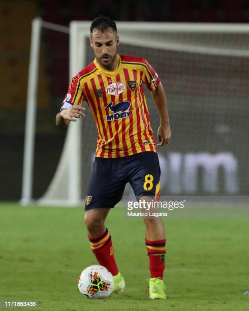 Marco Mancosu of Lecce during the Serie A match between US Lecce and Hellas Verona at Stadio Via del Mare on September 1 2019 in Lecce Italy