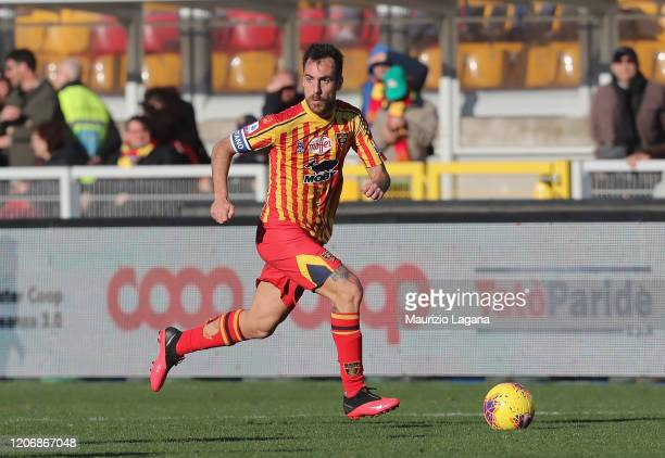 Marco Mancosu of Lecce during the Serie A match between US Lecce and SPAL at Stadio Via del Mare on February 16 2020 in Lecce Italy