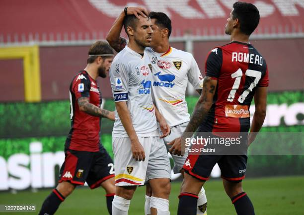 Marco Mancosu of US Lecce disappointment after a missed penalty during the Serie A match between Genoa CFC and US Lecce at Stadio Luigi Ferraris on...