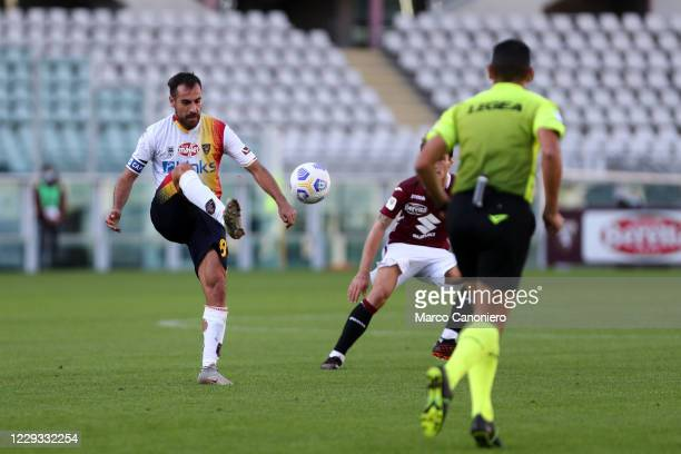 Marco Mancosu of Us Lecce in action during the Coppa Italia match between Torino Fc and Us Lecce. Torino Fc wins 3-1 over Us Lecce.
