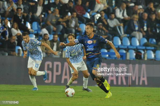 Marco Mancosu of US Lecce in action during the Serie A match between SPAL and US Lecce at Stadio Paolo Mazza on September 25 2019 in Ferrara Italy