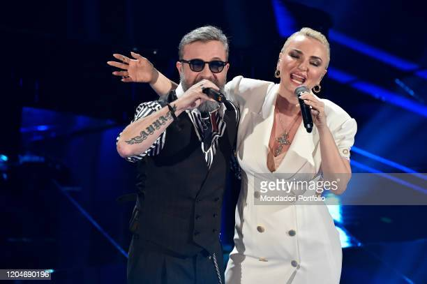 Marco Masini Arisa at the third evening of the 70th Sanremo Music Festival on February 6th 2020 in Sanremo Italy