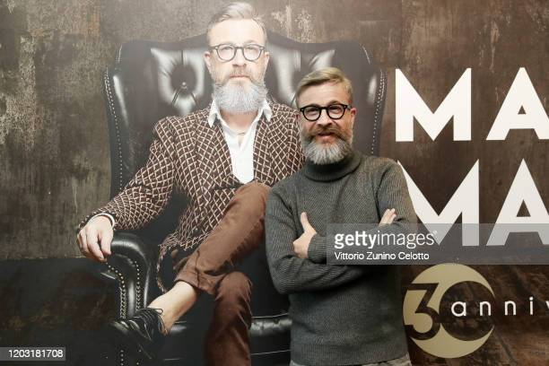 Marco Masini attends a photocall on January 31 2020 in Milan Italy