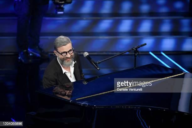 Marco Masini attends the 70° Festival di Sanremo at Teatro Ariston on February 04 2020 in Sanremo Italy
