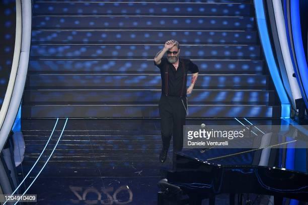 Marco Masini attends the 70° Festival di Sanremo at Teatro Ariston on February 08 2020 in Sanremo Italy