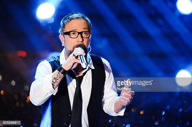 Marco Masini attends the closing night of 65th Festival di Sanremo 2015 at Teatro Ariston on February 14 2015 in Sanremo Italy