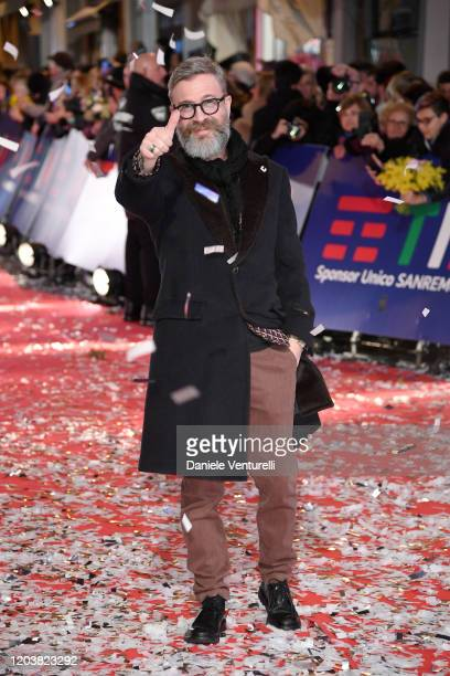 Marco Masini attends the opening red carpet at the 70° Festival di Sanremo at Teatro Ariston on February 03 2020 in Sanremo Italy