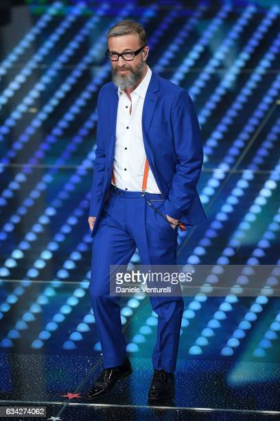Marco Masini attends the second night of the 67th Sanremo Festival 2017 at Teatro Ariston on February 8 2017 in Sanremo Italy