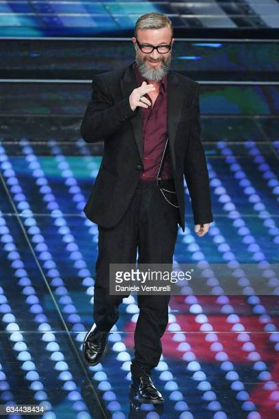 Marco Masini attends the third night of the 67th Sanremo Festival 2017 at Teatro Ariston on February 9 2017 in Sanremo Italy