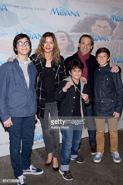 Marco Mastropietro Jill Hennessy Gianni Mastropietro Paolo Mastropietro and Guest attend Disney The Cinema Society Host a Special Screening of Moana...