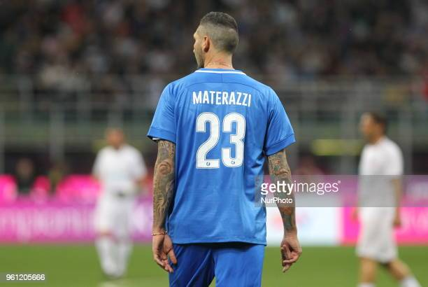 Marco Materazzi during quotLa partita del Maestroquot the farewell match by Andrea Pirlo at Giuseppe Meazza stadium on May 21 2018 in Milan Italy