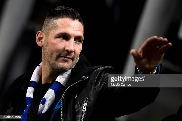 Marco Materazzi former player of FC Internazionale attends the Group B football match of the UEFA Champions League between FC Internazionale and FC...