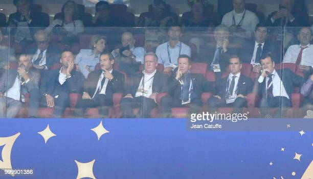 Marco Materazzi Francesco Totti Lothar Matthaus Philipp Lahm Dunga during the 2018 FIFA World Cup Russia Final match between France and Croatia at...