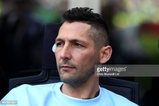 Marco Materazzi looks on during the Serie A match between FC Internazionale and Atalanta BC at Stadio Giuseppe Meazza on March 12 2017 in Milan Italy