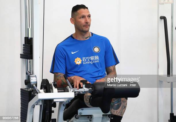 Marco Materazzi of Inter Forever trains during the FC Internazionale training session at the club's training ground Suning Training Center in memory...