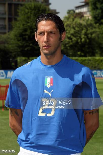Marco Materazzi of Italy poses on May 25 2006 in Coverciano Italy