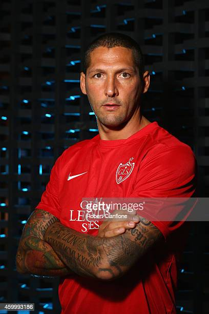 Marco Materazzi poses during a Global Legends Series portrait session at the Swissotel on December 5, 2014 in Bangkok, Thailand.