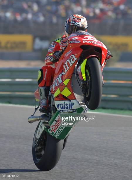 Marco Melandri during training for the 2006 Estoril Moto GP in Estoril Portugal on October 14 2006