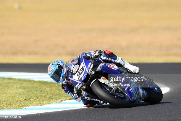 Marco Melandri of Italy and the GRT Yamaha WorldSBK rides during Free Practise at Phillip Island Grand Prix Circuit on February 23 2019 in Phillip...