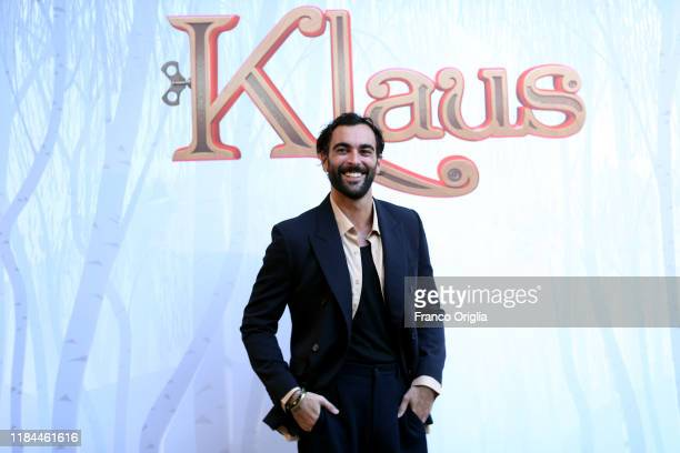 Marco Mengoni attends a photocall before Netflix's Klaus Press Conference and Screening on October 30, 2019 in Rome, Italy.