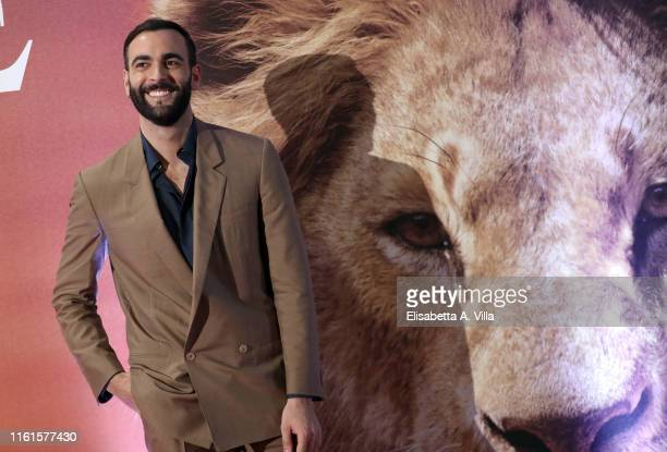 "Marco Mengoni attends ""Il Re Leone"" Photocall at The Space Cinema on July 12, 2019 in Rome, Italy."
