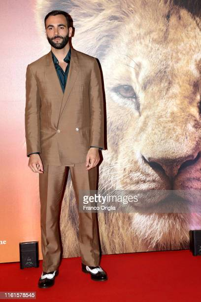 "Marco Mengoni attends ""Il Re Leone"" Photocall at The Space Cinema Moderno on July 12, 2019 in Rome, Italy."