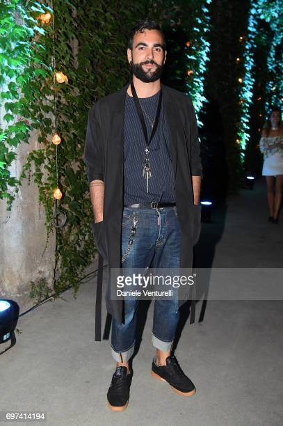 Marco Mengoni attends the Dsquared2 Aftershow Party during Milan Men's Fashion Week Spring/Summer 2018 on June 18 2017 in Milan Italy