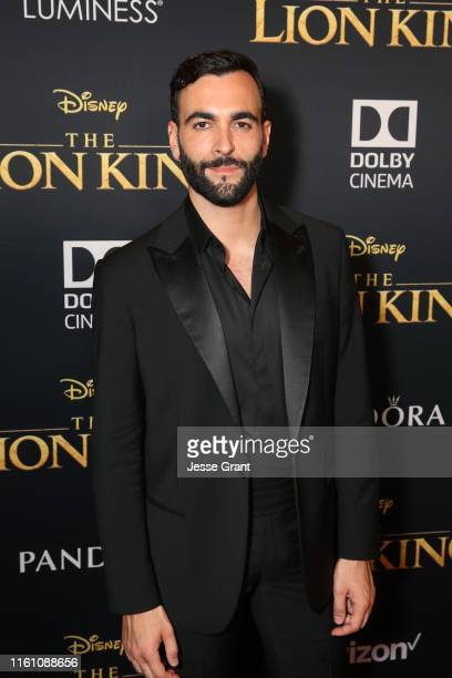 "Marco Mengoni attends the World Premiere of Disney's ""THE LION KING"" at the Dolby Theatre on July 09, 2019 in Hollywood, California."