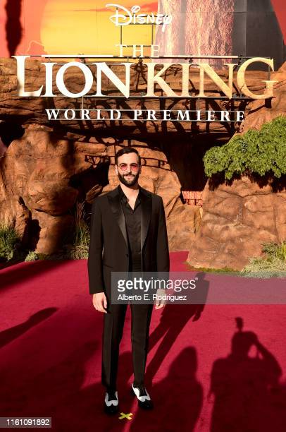 """Marco Mengoni attends the World Premiere of Disney's """"THE LION KING"""" at the Dolby Theatre on July 09, 2019 in Hollywood, California."""