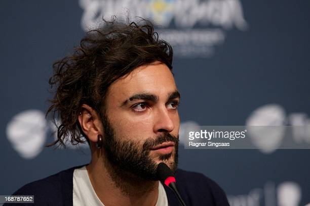 Marco Mengoni of Italy attends a photocall for the Eurovision Song Contest 2013 at Malmo Arena on May 15, 2013 in Malmo, Sweden.