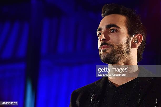 Marco Mengoni performs at 'Che Tempo Che Fa' TV Show on January 11, 2015 in Milan, Italy.