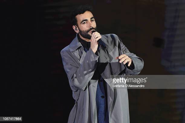 Marco Mengoni performs at 'Che Tempo Che Fa Tv Show on November 4 2018 in Milan Italy