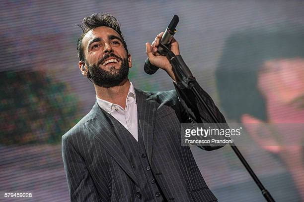Marco Mengoni performs at Lucca Summer Fest on July 23, 2016 in Lucca, Italy.