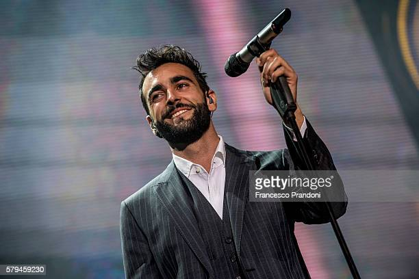 Marco Mengoni performs at Lucca Summer Fest on July 23 2016 in Lucca Italy