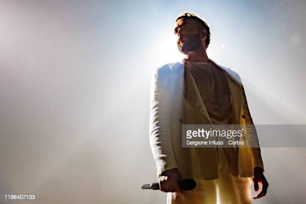 Marco Mengoni performs at Mediolanum Forum on November 8, 2019 in Milan, Italy.
