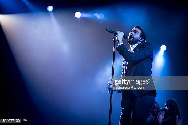 Marco Mengoni performs at Mediolanum Forum onstage on November 17, 2016 in Milan, Italy.