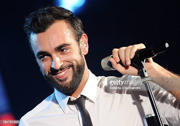 Marco Mengoni performs live at RadioItaliaLive at Radio Italia Studios on October 16, 2013 in Milan, Italy.