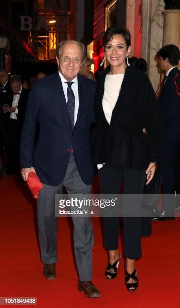 Marco Merati Foscarini and Anna Kanakis attend Premiere Il Banchiere Anarchico by Giulio Base at Cinema Quirinetta on October 10 2018 in Rome Italy