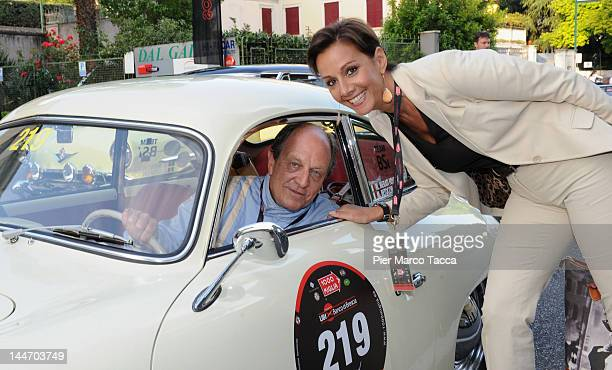 Marco Merati Foscarini and Anna Kanakis attend the 2012 Mille Miglia on May 17, 2012 in Brescia, Italy.