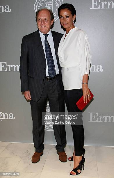 "Marco Merati Foschini and Anna Kanakis attend the ""Cento Anni Di Eccellenza"" Exhibition Launch party during Milan Fashion Week Menswear Spring/Summer..."