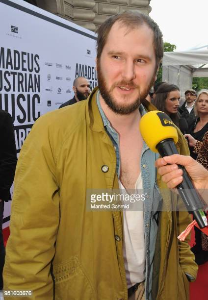 Marco Michael Wanda of Wanda arrives at the red carpet during the Amadeus Award 2018 on April 26 2018 in Vienna Austria