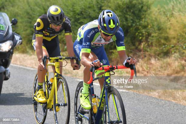 Marco Minnaard of The Netherlands and Team Wanty Groupe Gobert / Fabien Grellier of France and Team Direct Energie / during the 105th Tour de France...