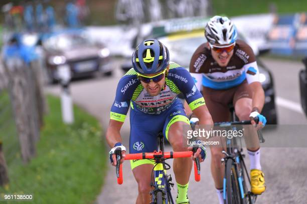 Marco Minnaard of The Netherlands and Team WantyGroupe Gobert / Alexis Gougeard of France and Team AG2R La Mondiale / during the 72nd Tour de...