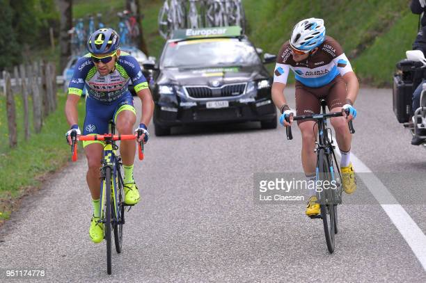 Marco Minnaard of The Netherlands and Team WantyGroupe Gobert / Alexis Gougeard of France and Team AG2R La Mondiale /during the 72nd Tour de Romandie...
