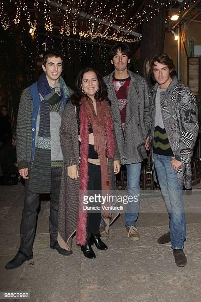 Marco Missoni, Angela Missoni, Ottavio Junior Missoni and Giacomo Missoni attend the Missoni collection fashion show during Milan Fashion Week...
