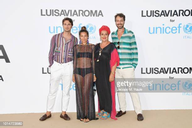Marco Missoni Margherita Missoni Angela Missoni and Francesco Macappani attend a photocall for the Unicef Summer Gala Presented by Luisaviaroma at...