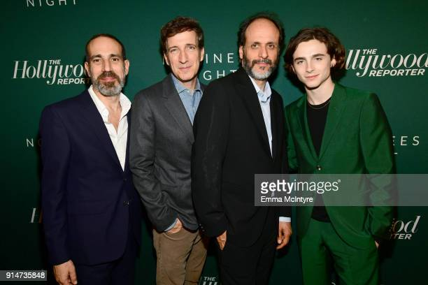 Marco Morabito Peter Spears Luca Guadagnino and Timothee Chalamet attend The Hollywood Reporter 6th Annual Nominees Night at CUT on February 5 2018...