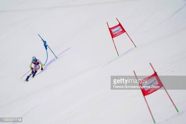 Marco Odermatt of Switzerland competes during the Audi FIS Alpine Ski World Cup Men's Giant Slalom on February 22, 2020 in Yuzawa Naeba Japan.