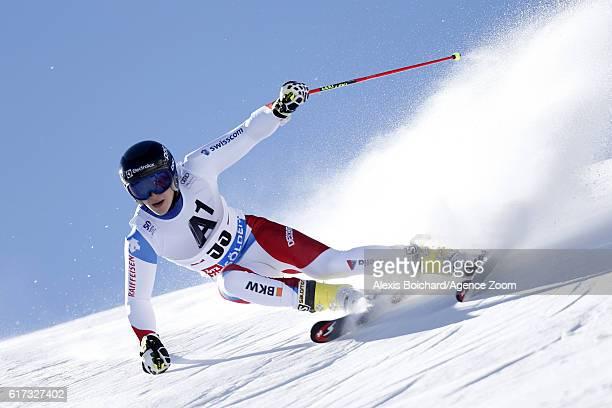 Marco Odermatt of Switzerland in action during the Audi FIS Alpine Ski World Cup Men's Giant Slalom on October 23 2016 in Soelden Austria